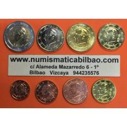 BELGICA MONEDAS EURO 2009 SC : 1+2+5+10+20+50 Centimos 1 EURO + 2 EUROS REY ALBERTO II DISEÑO TIPO 2 Belgium Belgique