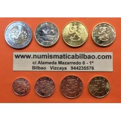 FINLANDIA MONEDAS EURO 2009 SC : 1+2+5+10+20+50 Centimos + 1 EURO + 2 EUROS 2009 SERIE TIRA Finnland