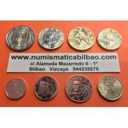 FRANCIA MONEDAS EURO 2009 SC : 1+2+5+10+20+50 Centimos + 1 EURO + 2 EUROS 2009 SERIE TIRA @PROCEDEN DE CARTERA OFICIAL@