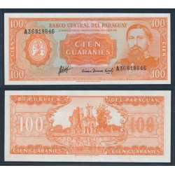 PARAGUAY 100 GUARANIES 1952 GENERAL JOSE E. DIEZ Pick 199B BILLETE SC UNC BANKNOTE