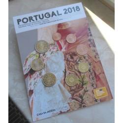 PORTUGAL CARTERA OFICIAL EUROS 2018 BU SET 1+2+5+10+20+50 CENTIMOS + 1 EURO + 2 EUROS 2018 SC Tipo SOUVENIR 8 MONEDAS