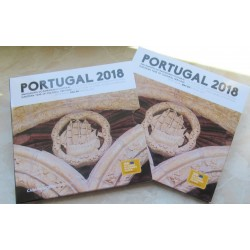 PORTUGAL CARTERA OFICIAL EUROS 2018 BU SET 1+2+5+10+20+50 CENTIMOS + 1 EURO + 2 EUROS 2018 SC 8 MONEDAS