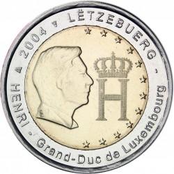 LUXEMBURGO 2 EUROS 2004 BUSTO DEL GRAN DUQUE HENRI SC BIMETALICA MONEDA CONMEMORATIVA Luxembourg
