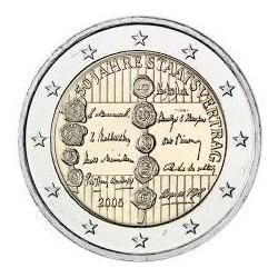 AUSTRIA 2 EUROS 2005 MANIFIESTO DEL ESTADO 50 ANIVERSARIO SC BIMETALICA MONEDA CONMEMORATIVA Osterreich