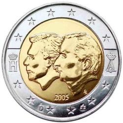 2 EUROS 2005 BELGICA MONARCAS SC BIMETALICA