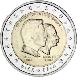 LUXEMBURGO 2 EUROS 2005 GRANDES DUQUES HENRI y ADOLPHE SC BIMETALICA MONEDA CONMEMORATIVA