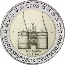 GERMANY 2 EURO 2006 HOLSTEIN UNC BIMETALLIC