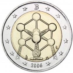 BELGIUM 2 EUROS 2006 ATOMIUM UNC BIMETALLIC