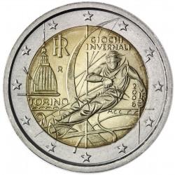 ITALIA 2 EUROS 2006 OLIMPIADA DE TURIN SKI ALPINO SC BIMETALICA MONEDA CONMEMORATIVA