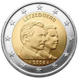 LUXEMBURGO 2 EUROS 2006 GRAN DUQUE HENRI y PRINCIPE GUILLERMO SC BIMETALICA @RARA@ MONEDA CONMORATIVA