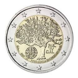 PORTUGAL 2 EUROS 2007 ARBOL PRESIDENCIA DE LA UNION EUROPEA SC BIMETALICA MONEDA BIMETALICA