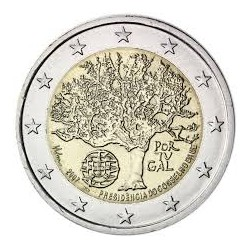 PORTUGAL 2 EUROS 2007 TREE UNC BIMETALLIC