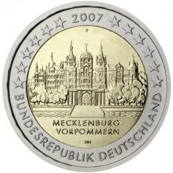 GERMANY 2 EURO 2007 MECKLENBURG UNC BIMETALLIC