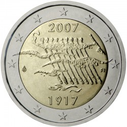 FINLANDIA 2 EUROS 2007 INDEPENDENCIA BARCA SC BIMETALICA