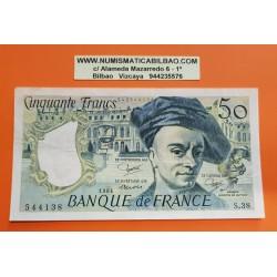 FRANCIA 50 FRANCOS 1984 QUENTIN DE LA TOUR Serie S.38 - 544138 Pick 152B BILLETE MBC++ France 50 Francs