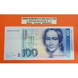 ALEMANIA 100 MARCOS 1993 CLARA SCHUMANN y PIANO Serie DN Pick 41C BILLETE MBC+ @RARO@ BRD Germany Federal Republic