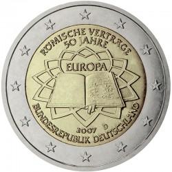 GERMANY 2 EURO 2007 TREATY OF ROME UNC BIMETALLIC