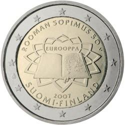 FINLANDIA 2 EUROS 2007 TRATADO DE ROMA 50 ANIVERSARIO SC BIMETALICA MONEDA CONMEMORATIVA