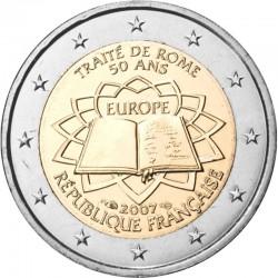 FRANCIA 2 EUROS 2007 TRATADO DE ROMA 50 ANIVERSARIO SC BIMETALICA MONEDA CONMEMORATIVA