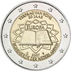 NETHERLANDS 2 EUROS 2007 TEATRY OF ROME UNC BIMETALLIC