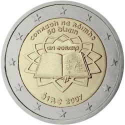 IRLANDA 2 EUROS 2007 TRATADO DE ROMA 50 ANIVERSARIO SC BIMETALICA MONEDA CONMEMORATIVA