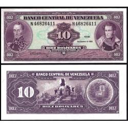 . VENEZUELA 10 BOLIVARES 1988 SUCRE Pick 62 SC BILLETE BANKNOTE