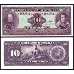 VENEZUELA 10 BOLIVARES 1992 SUCRE y BOLIVAR Pick 61C BILLETE SC UNC BANKNOTE