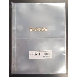 PARDO 10 hojas de 2 ESPACIOS para BILLETES, POSTALES, FOTOS... modelo 1012 PLASTICO DE GRAN CALIDAD SIN PVC para ALBUM GRANDE