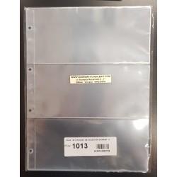 PARDO 10 hojas de 3 ESPACIOS para BILLETES, POSTALES, FOTOS... modelo 1013 PLASTICO DE GRAN CALIDAD SIN PVC para ALBUM GRANDE