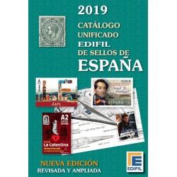 @2019 NOVEDAD@ CATALOGO UNIFICADO EDIFIL DE SELLOS DE ESPAÑA Edición 2019 Fotos a COLORES