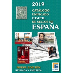 @NOVEDAD@ CATALOGO UNIFICADO EDIFIL DE SELLOS DE ESPAÑA Edición 2019 Fotos a COLORES