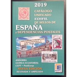 @2019 NOVEDAD@ CATALOGO UNIFICADO EDIFIL DE SELLOS DE ESPAÑA y DEPENDENCIAS POSTALES Edición 2019 Fotos a COLORES