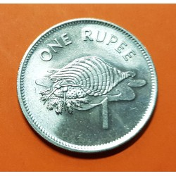 SEYCHELLES 1 RUPIA 1982 CRUSTACEO KM.50 MONEDA DE NICKEL SC- 1 Rupee Conch Shell