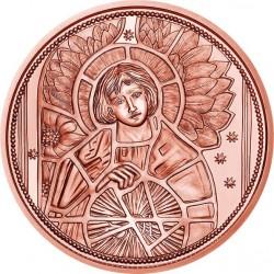 AUSTRIA 10 EUROS 2018 SERIE ARCANGELES URIEL 4ª MONEDA DE COBRE SC Österreich coin Angel