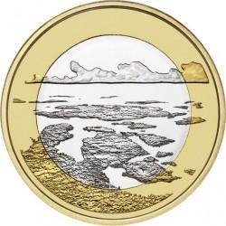 FINLANDIA 5 EUROS 2018 PAISAJES NACIONALES Nº 3 PARQUE NACIONAL MAR DEL ARCHIPIELAGO SC moneda bimetálica