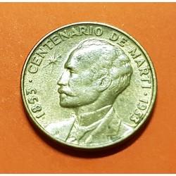 @OFERTA@ 1 CENTAVO 1953 CENTENARIO DE JOSE MARTI KM.26 MONEDA DE LATON MBC+