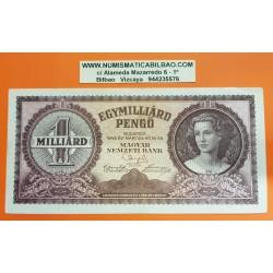 HUNGRIA 1000000 PENGO 1946 DAMA EPOCA DE INFLACION Pick 125 BILLETE MBC+ Hungary 1 Milliard BANKNOTE