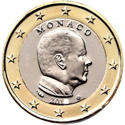 MONACO 1 EURO 2018 REY ALBERTO II SIN CIRCULAR MONEDA NO CONMEMORATIVA @ESCASA@