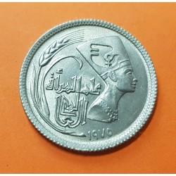 .EGIPTO 10 MILLIEMES 1941 REY FAROUK KM*364 NICKEL SC Egypt