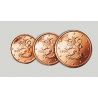 FINLANDIA 1+2+5 CENTIMOS 2000 LEON 3 MONEDAS DE COBRE SC Finnland Euros Euro Cents