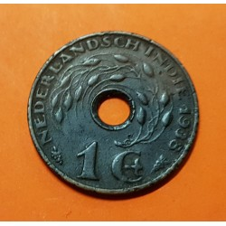 INDIAS DEL HOLANDESAS 1 CENTIMO 1938 VALOR y CARACTERES KM.317 MONEDA DE BRONCE MBC- Netherlandsch East Indies