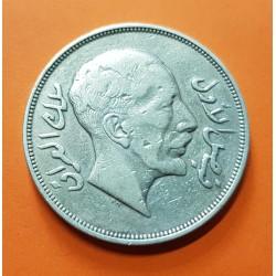 IRAK 1 RIYAL 1932 REY FAISAL I KM.101 MONEDA DE PLATA MBC @RARA@ Iraq AH1350 ISLAMIC SILVER COIN (200 Fils)