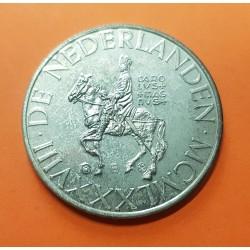 @OFERTA@ HOLANDA 1 ECU 1988 EMPERADOR CARLOMAGNO A CABALLO MONEDA DE NICKEL PROOF The Netherlands ECUS Serie