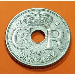 @RARA@ ISLAS FEROE 10 ORE 1941 ESCUDO y VALOR KM.4 MONEDA DE NICKEL Ex Colonia de Dinamarca FAEROE Faroe Islands