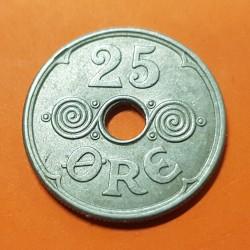 @RARA@ ISLAS FEROE 25 ORE 1941 ESCUDO y VALOR KM.5 MONEDA DE NICKEL Ex Colonia de Dinamarca FAEROE Faroe Islands
