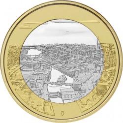FINLANDIA 5 EUROS 2018 PAISAJES NACIONALES Nº 6 RAPIDOS DE TAMMERKOSKI SC moneda bimetálica