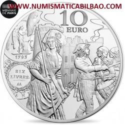 @OFERTA@ FRANCIA 10 EUROS 2018 SEMEUSE SEMBRADORA MONEDA ECU DE 6 LIVRES MONEDA DE PLATA PROOF ESTUCHE Monnaie de Paris