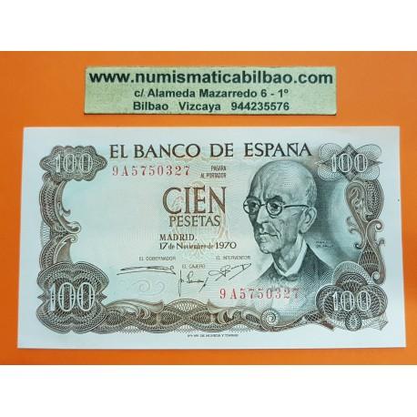 ESPAÑA 100 PESETAS 1970 MANUEL DE FALLA @RARA Serie 9A 5750327@ Pick 152 BILLETE SC PLANCHA Spain UNC BANKNOTE