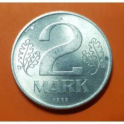 ALEMANIA DEMOCRATICA 2 MARCOS 1982 A ESCUDO y VALOR KM.48 MONEDA DE ALUMINIO @LUJO@ Germany DDR RDA 2 Marks