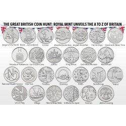 . 2013 INGLATERRA ROYAL MINT UK DEFINITIVE COIN SET 1+2 LIBRAS